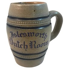 Isleworth Dutch Room Cobalt Blue Decorated Salt Glaze Pottery Beer Stein Mug