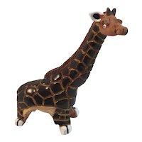 Casals Pottery Giraffe Peruvian Enameled Terracotta Peru