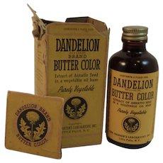Dandelion Brand Butter Color WW II Era
