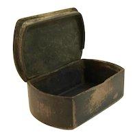 Casket Style Paper Mache Snuff Box
