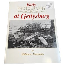 1995 Author Signed Early Photography at Gettysburg by William A Frassanito Civil War Book Illustrated
