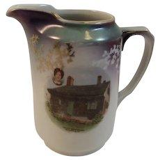 German Gettysburg Jennie Wade Battlefield Souvenir Porcelain Creamer Miniature Pitcher Germany