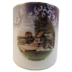 German Gettysburg High Water Mark Battlefield Souvenir Porcelain Mug Cup Made in Germany Childs Child Size