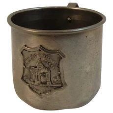 1910 Gettysburg Pennsylvania Monument at Gettysburg Dedication Souvenir Metal Cup or Mug Battlefield