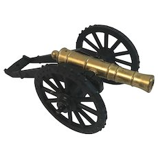 Penncraft Miniature Brass and Cast Iron Revolutionary War American Founder Field Cannon 1775 with Original Box