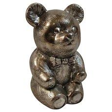 Vintage Teddy Bear Still Bank for Children