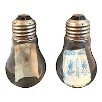 Light Bulb Salt and Pepper Shakers Rite Lite Corp Clarendon PA Vintage Novelty