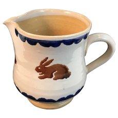 Nicholas Mosse Pottery Bunny Rabbit Jug Small Pitcher Yellowware Yellow Ware