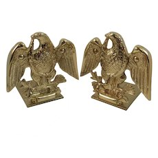 Baldwin Brass American Eagle Bookends Forged in America Patriotic