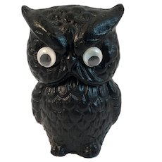 Googly Eye Coal Owl Vintage Vanguard Products Figurine Paperweight