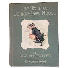 1946 The Tale of Johnny Town-Mouse by Beatrix Potter Peter Rabbit Series Children's Book