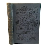 1890 German Civil War Book Der Burgerkrieg by Otto Soubron Bürger krieg Burger-krieg First Edition