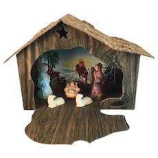 Vintage Light Up Nativity Scene Christmas Decoration Creche Set