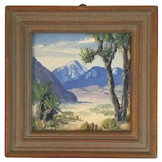Marie Dorothy Dolph Miniature Original Oil Painting titled The Joshua Tree M.D.