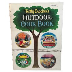 1961 Betty Crocker's Outdoor Cook Book First Edition Cookbook Vintage Illustrated Spiral Bound Hardcover