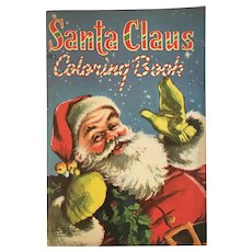 1953 Santa Claus Coloring Book How He Filled All the Stockings by Daisy Mager Unused