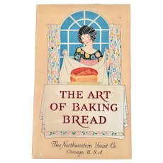 Deco Cookbook The Art of Baking Bread Northwestern Magic Yeast Foam Co Cook Book 1920s 1930s