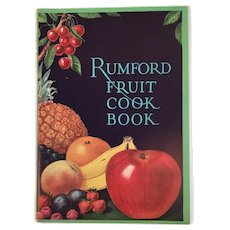 1927 Rumford Fruit Cook Book Baking Powder Cookbook Color Illustrations Recipes