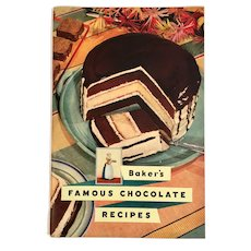 1936 Baker's Famous Chocolate Recipes Advertising Cookbook Cook Book Illustrated