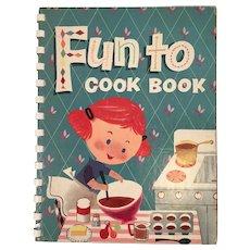 1955 Carnation Fun to Cook Book Cookbook for Kids Spiral Bound Vintage Recipes Margie Blake