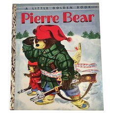 1954 First Edition Pierre Bear Little Golden Book A Printing Patsy and Richard Scarry 212