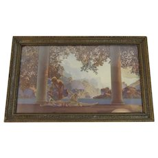 Daybreak by Maxfield Parrish Original Frame and Glass