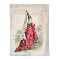 Victorian Kinney Bros Tobacco Advertising 1460 Lady of Quality Reign of Charles VII Card Special Favours Card 12 H644 Series Premium