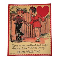 1930s Large Humorous Valentine Card