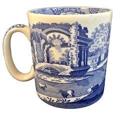 Spode Blue Italian Mug with Pattern on the Inside Rim