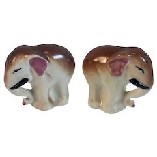 Occupied Japan Elephant Salt and Pepper Shakers Vintage