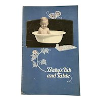 Vollrath Enamel Ware Baby Book Baby's Tub and Table with Products Advertising 1920s 1930s Enamelware