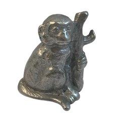 Cast Aluminum Monkey Bottle Opener Vintage Barware