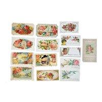 14 Victorian Calling Cards Diecuts Die Cut Scrap Flowers Rose Cat Children