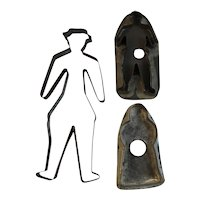 3 People Shaped Tin Cookie Cutters