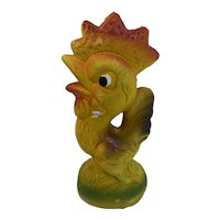 Papier Mache Rooster Chicken Candy Container Paper Vintage Easter