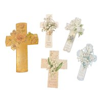 Victorian Die Cut Easter Cross Card Collection German Germany