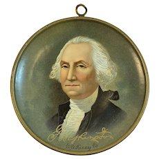 Tin Litho CD Kenny Co George Washington Patriotic Hanging Tray Advertising Premium Baltimore Patriotic