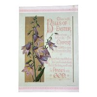 1881 Prang Victorian Easter Lily Card Chromolithograph Lilies Religious Motif