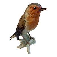 Goebel CV 100 Robin Bird Figurine West Germany Matte Finish