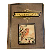 Victorian Children's Book Child's Delight and Other Entertaining Stories With Robin on the Cover