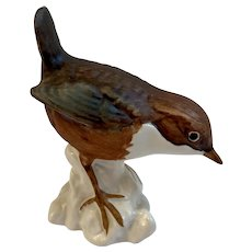 Goebel Brown Robin Bird Figurine West Germany Matte Finish