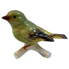 Goebel Greenfinch Bird Figurine West Germany Gloss Finish