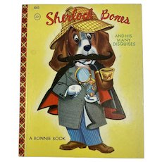 1955 Sherlock Bones and His Many Disguises Bonnie Book Samuel Lowe Company Halloween Party Story