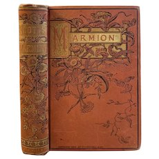 1884  Marmion A Poem in Six Cantos by Sir Walter Scott Victorian Poetry Book