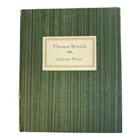 1951 Thomas Bewick 1753 - 1828 An Essay by Llewelyn Powys Book