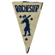 Rochester Red Wings Baseball Mini Felt Pennant American Nut & Chocolate Co Premiums Minor League Team Vintage