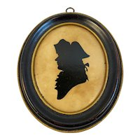 Colonial Soldier Silhouette Borghese Hall House New York Revolutionary War Oval