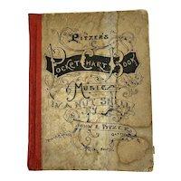 1894 Gettysburg Pitzer's Pocket Chart Book Music in a Nut Shell by John E Pitzer Civil War Veteran Battlefield Guide
