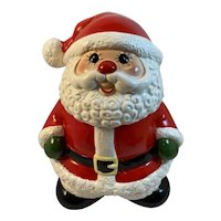 Enesco Christmas Cookie Jar Santa Claus Vintage