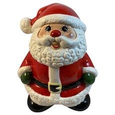 Enesco Christmas Cookie Jar Santa Claus Vintage